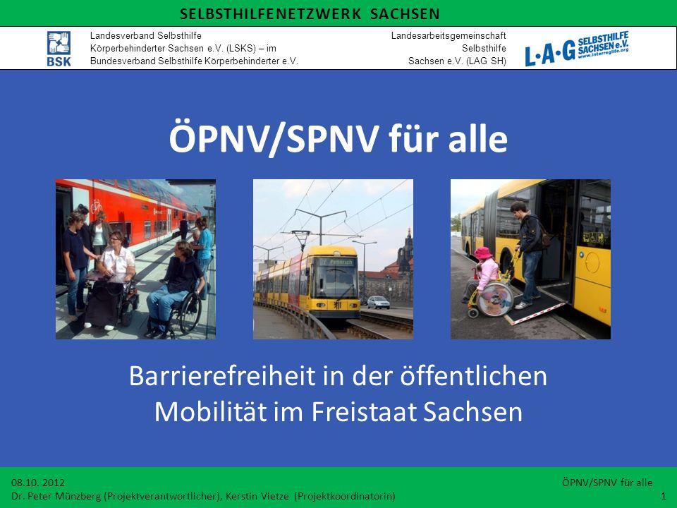 Barrierefreiheit in der öffentlichen Mobilität im Freistaat Sachsen