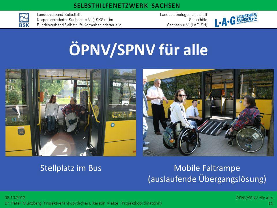 Stellplatz im Bus Mobile Faltrampe (auslaufende Übergangslösung)