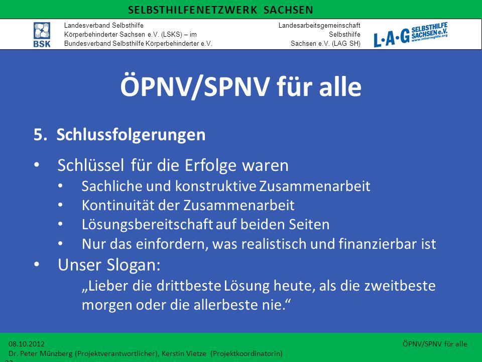 ÖPNV/SPNV für alle 5. Schlussfolgerungen