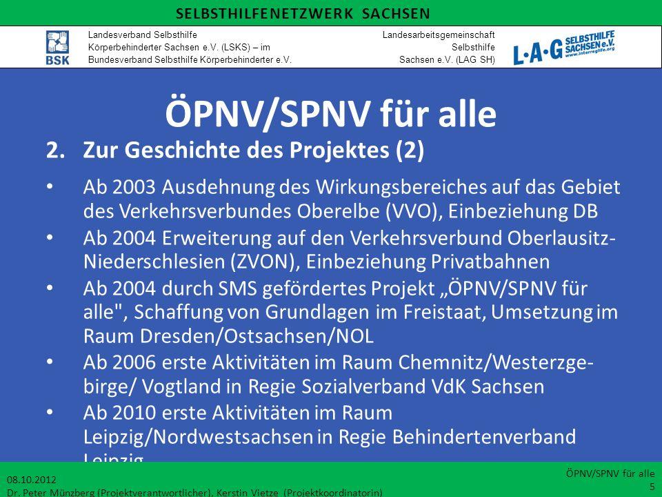 ÖPNV/SPNV für alle 2. Zur Geschichte des Projektes (2)