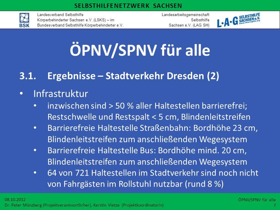 ÖPNV/SPNV für alle 3.1. Ergebnisse – Stadtverkehr Dresden (2)