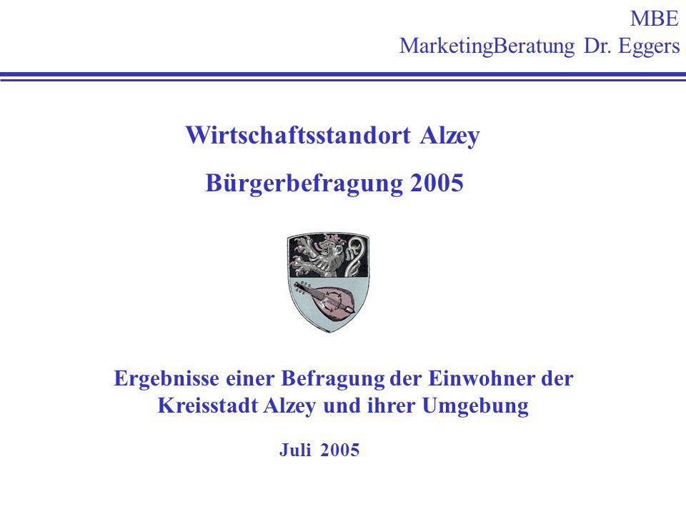 Wirtschaftsstandort Alzey Bürgerbefragung 2005