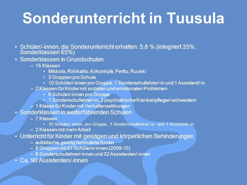 Sonderunterricht in Tuusula