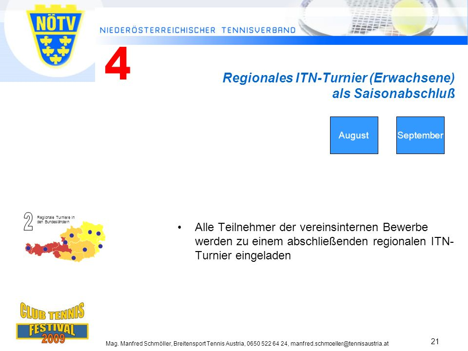Regionales ITN-Turnier (Erwachsene) als Saisonabschluß