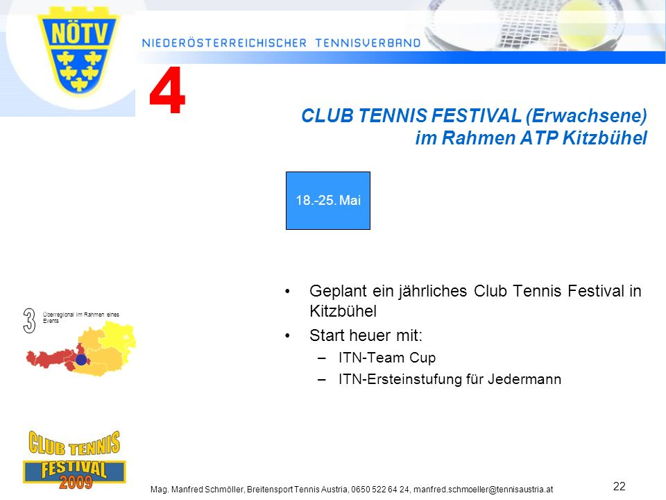 CLUB TENNIS FESTIVAL (Erwachsene) im Rahmen ATP Kitzbühel