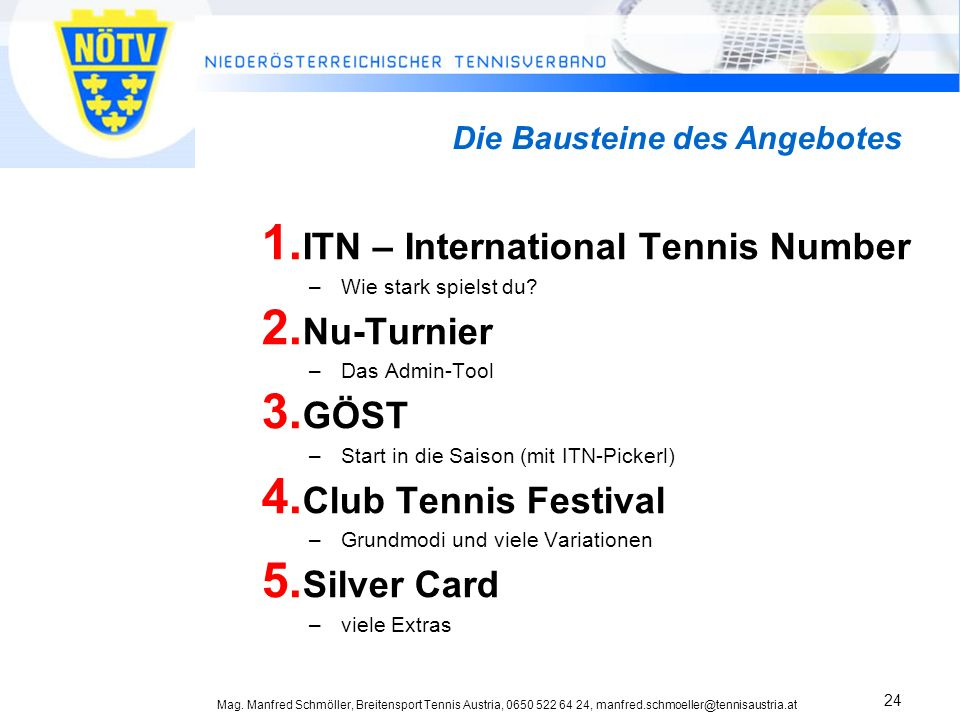 ITN – International Tennis Number Nu-Turnier GÖST Club Tennis Festival