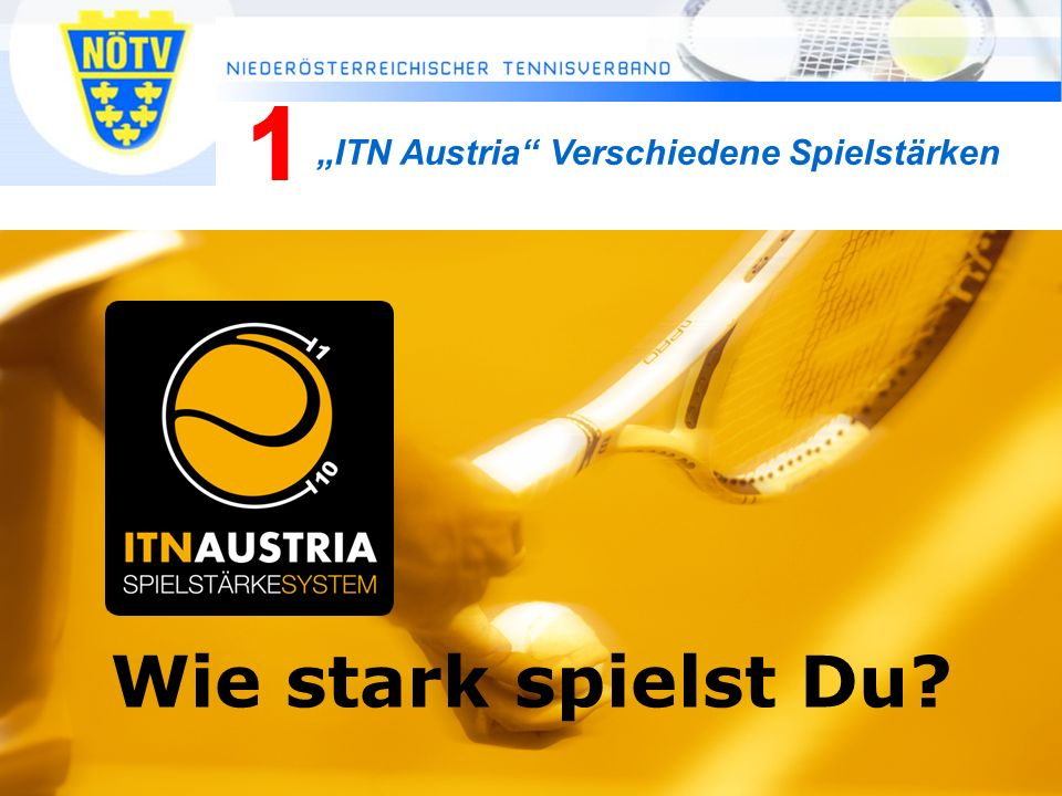 """Wie stark spielst Du 1 """"ITN Austria Verschiedene Spielstärken"""