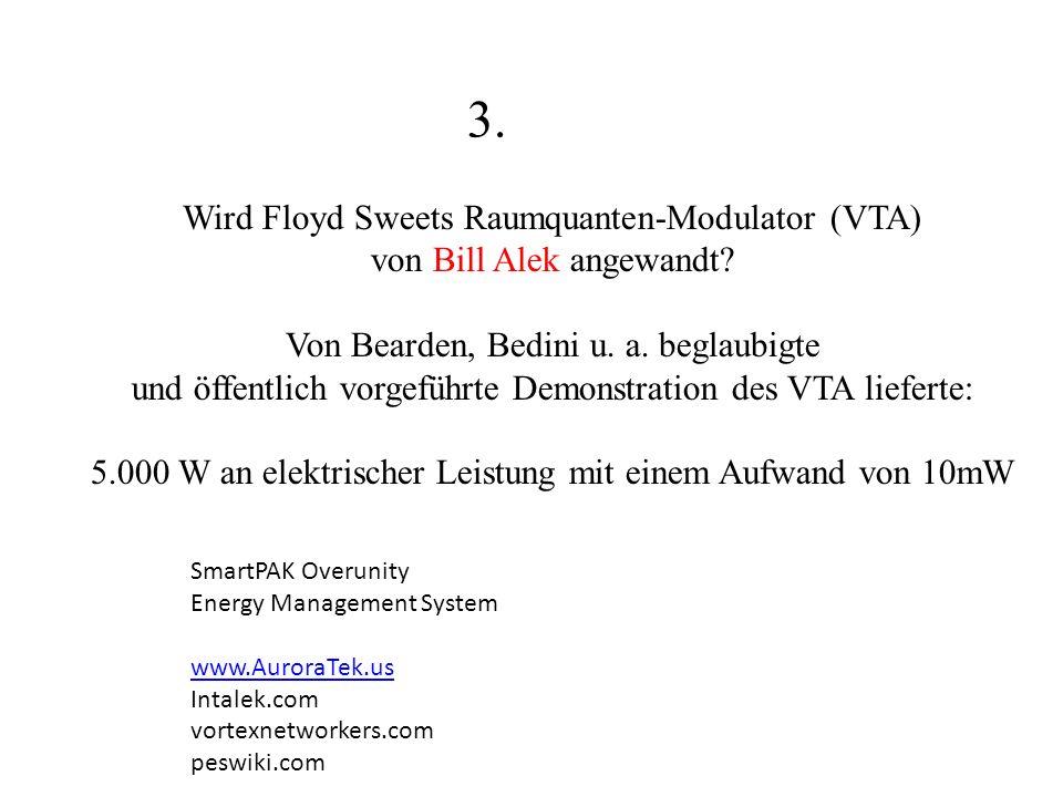 3. Wird Floyd Sweets Raumquanten-Modulator (VTA)