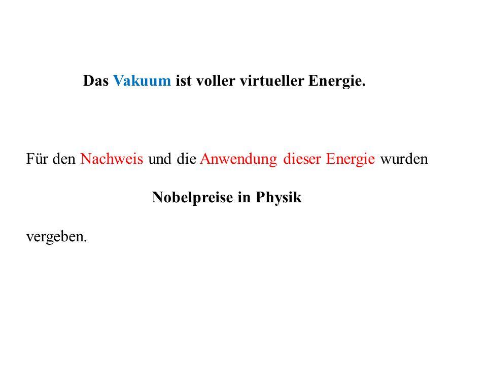 Das Vakuum ist voller virtueller Energie.