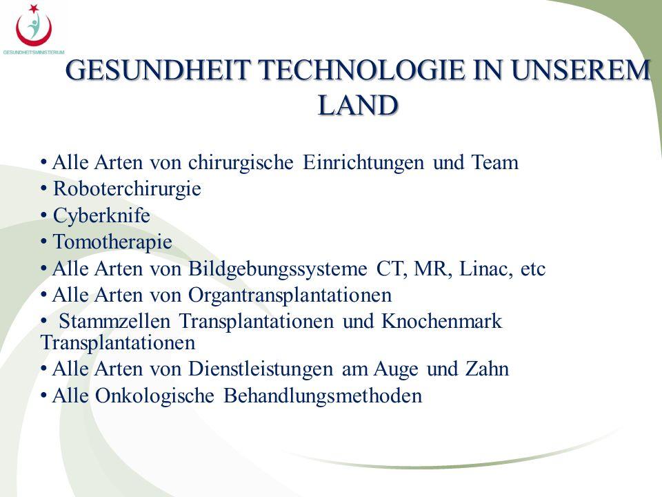 GESUNDHEIT TECHNOLOGIE IN UNSEREM LAND