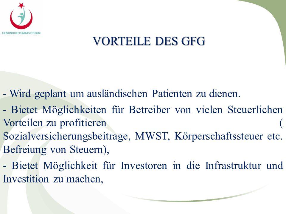 VORTEILE DES GFG - Wird geplant um ausländischen Patienten zu dienen.