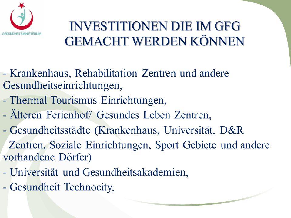 INVESTITIONEN DIE IM GFG GEMACHT WERDEN KÖNNEN