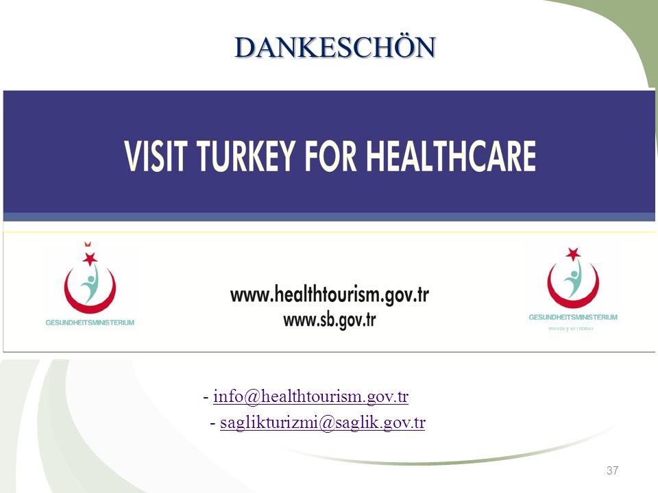 DANKESCHÖN - info@healthtourism.gov.tr - saglikturizmi@saglik.gov.tr
