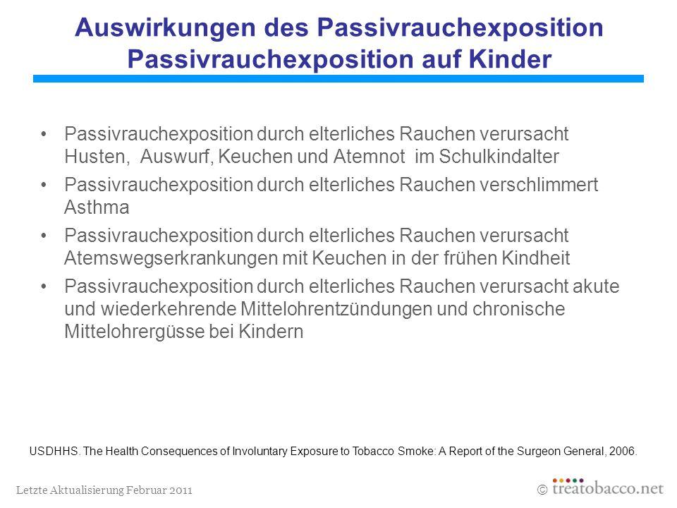 Auswirkungen des Passivrauchexposition Passivrauchexposition auf Kinder