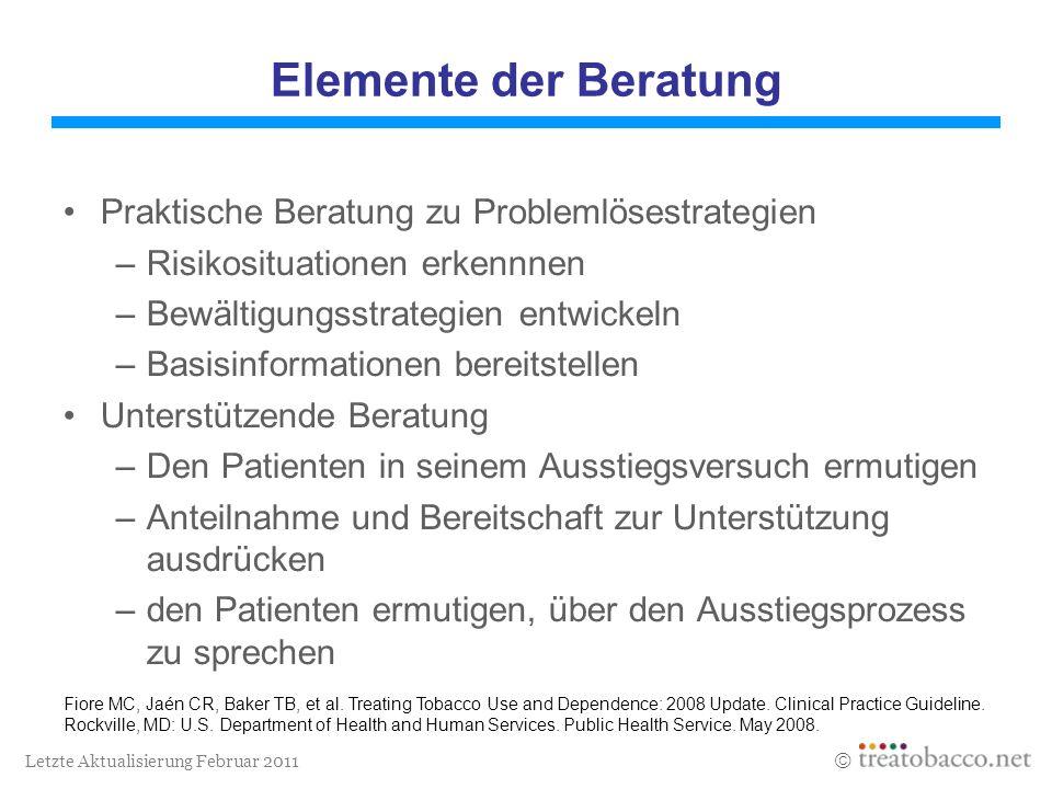Elemente der Beratung Praktische Beratung zu Problemlösestrategien