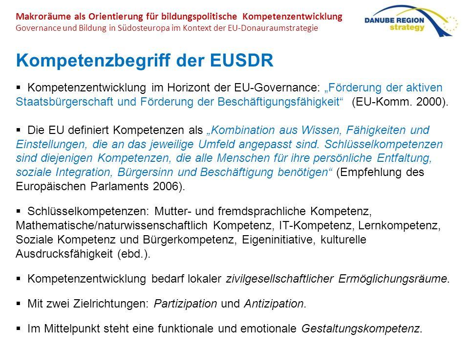 Kompetenzbegriff der EUSDR