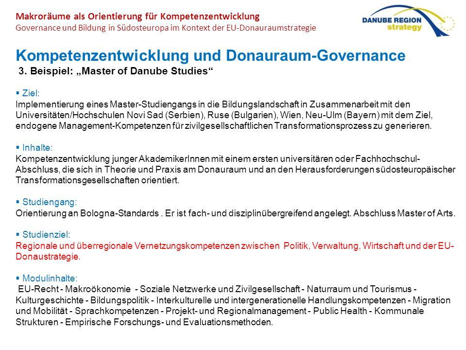 Kompetenzentwicklung und Donauraum-Governance