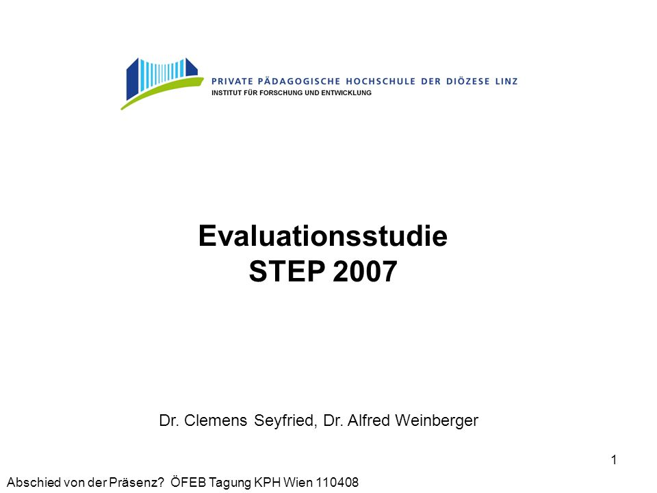 Evaluationsstudie STEP 2007