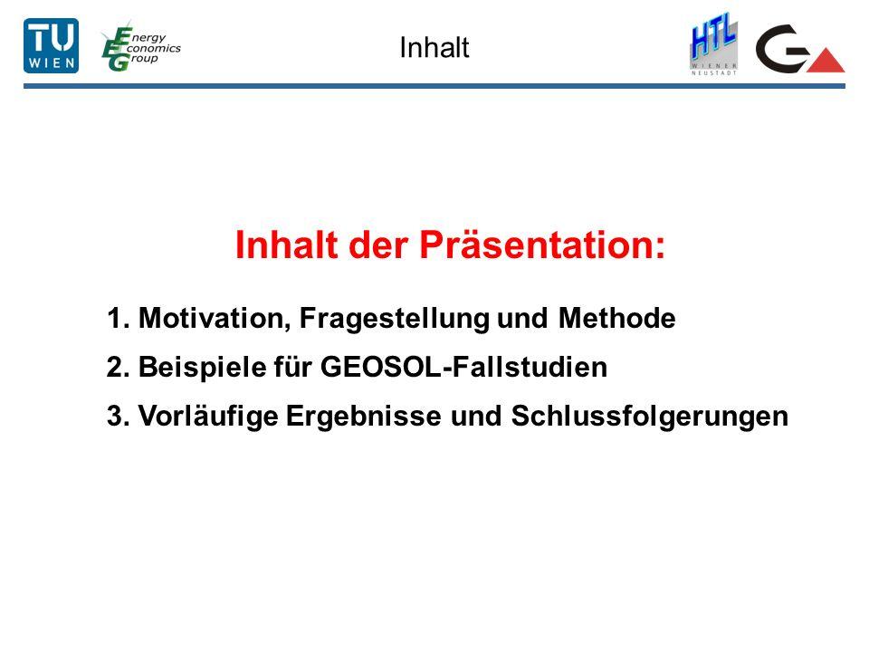 Inhalt der Präsentation: