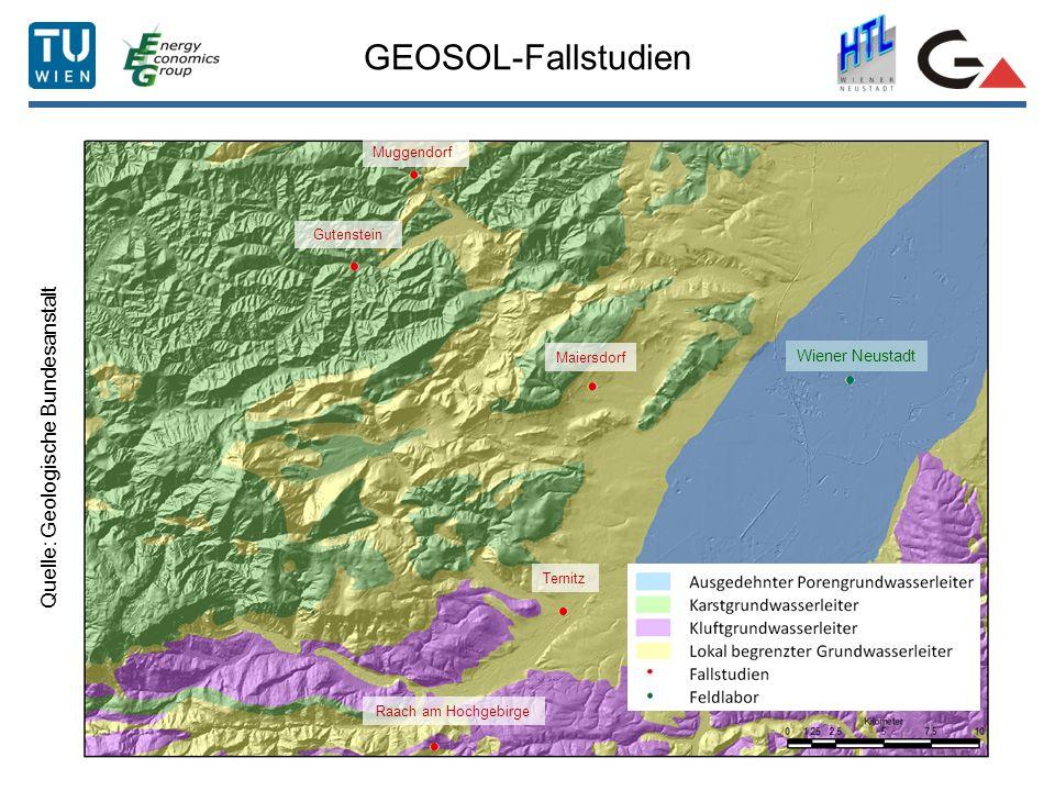 GEOSOL-Fallstudien Quelle: Geologische Bundesanstalt Wiener Neustadt