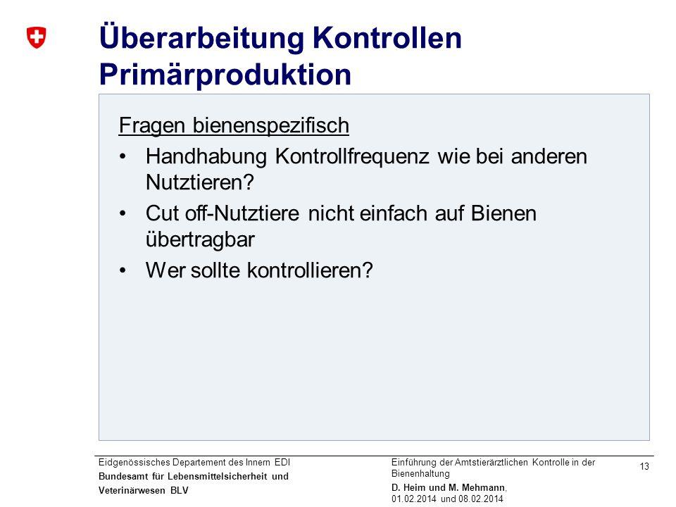 Überarbeitung Kontrollen Primärproduktion