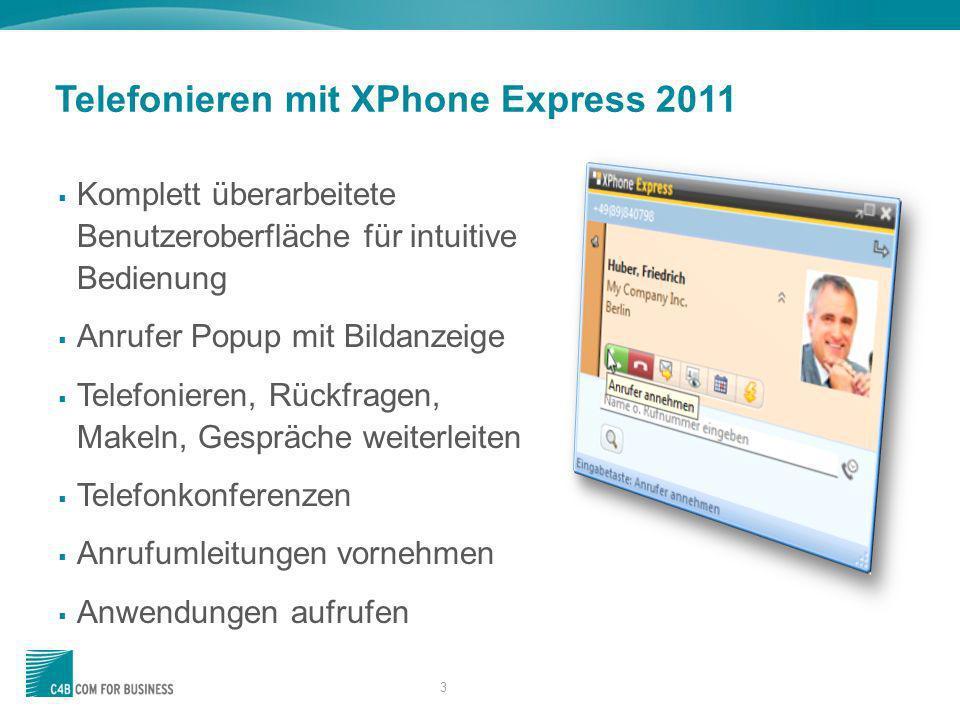 Telefonieren mit XPhone Express 2011