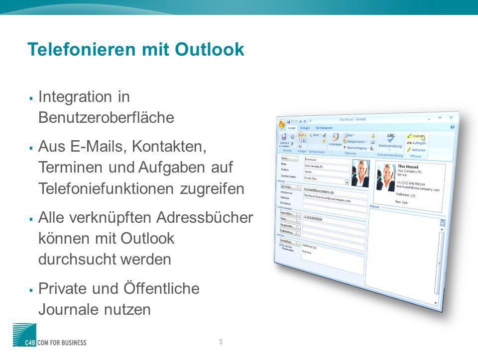 Telefonieren mit Outlook