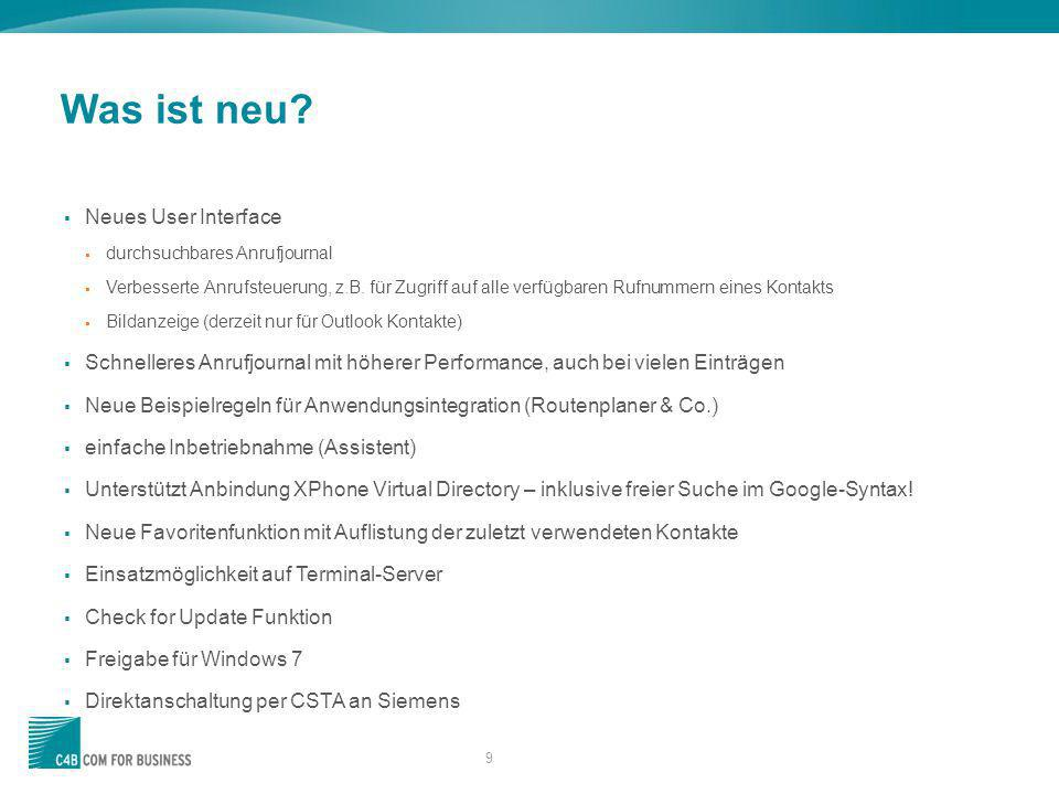 Was ist neu Neues User Interface
