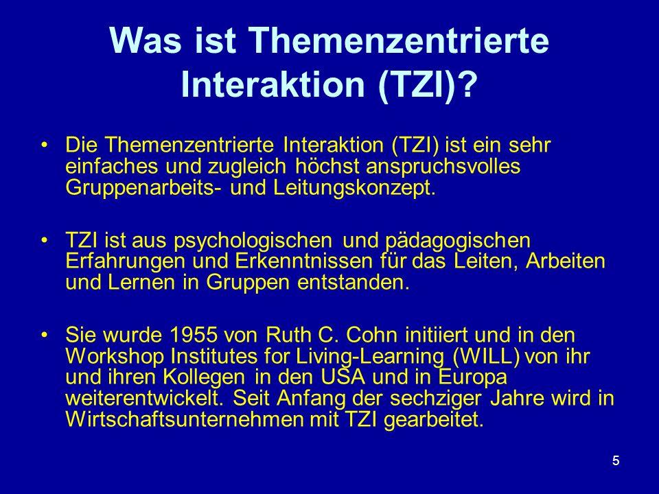 Was ist Themenzentrierte Interaktion (TZI)