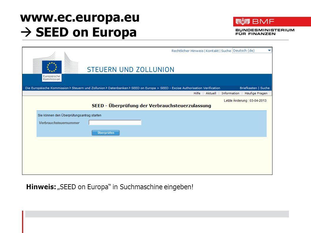 www.ec.europa.eu  SEED on Europa