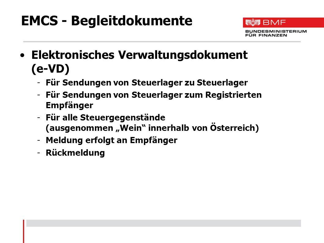 EMCS - Begleitdokumente