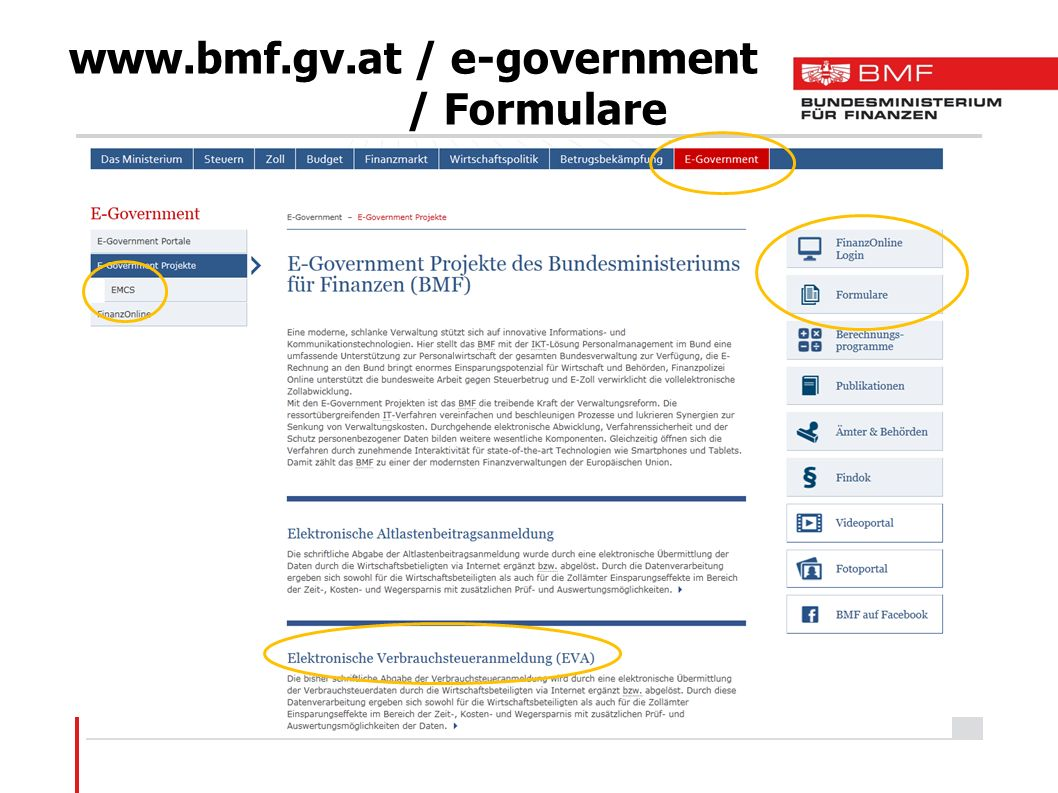 / e-government / Formulare