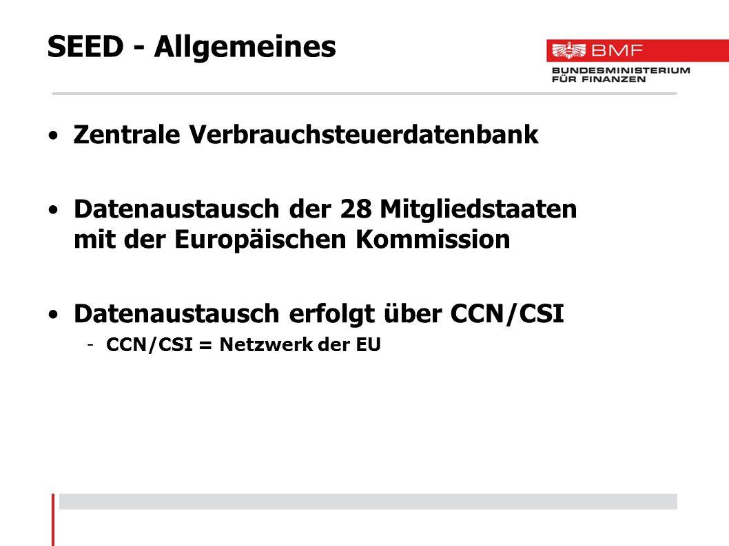 SEED - Allgemeines Zentrale Verbrauchsteuerdatenbank