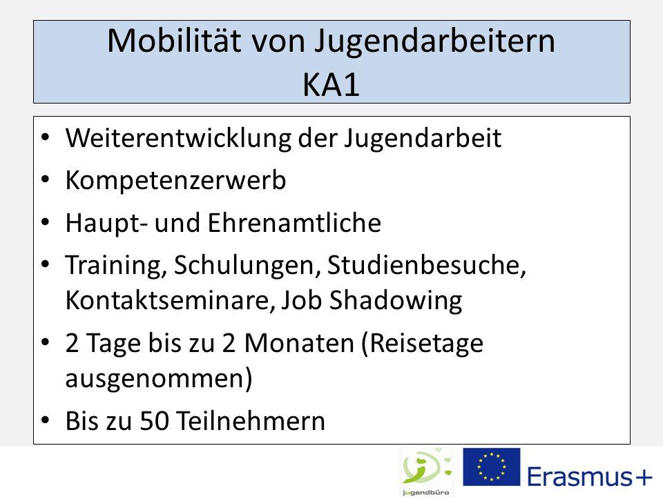 Mobilität von Jugendarbeitern KA1