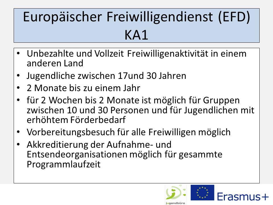 Europäischer Freiwilligendienst (EFD) KA1