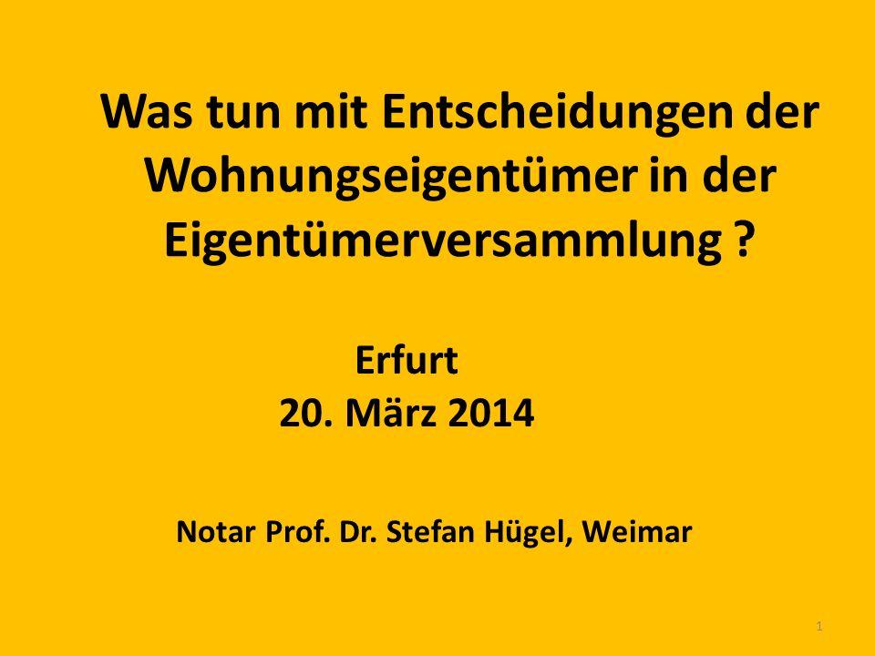 Notar Prof. Dr. Stefan Hügel, Weimar