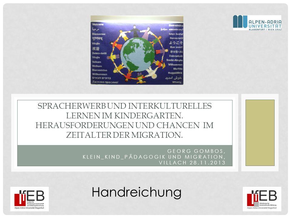 Georg Gombos, Klein_Kind_Pädagogik und Migration, Villach 28.11.2013