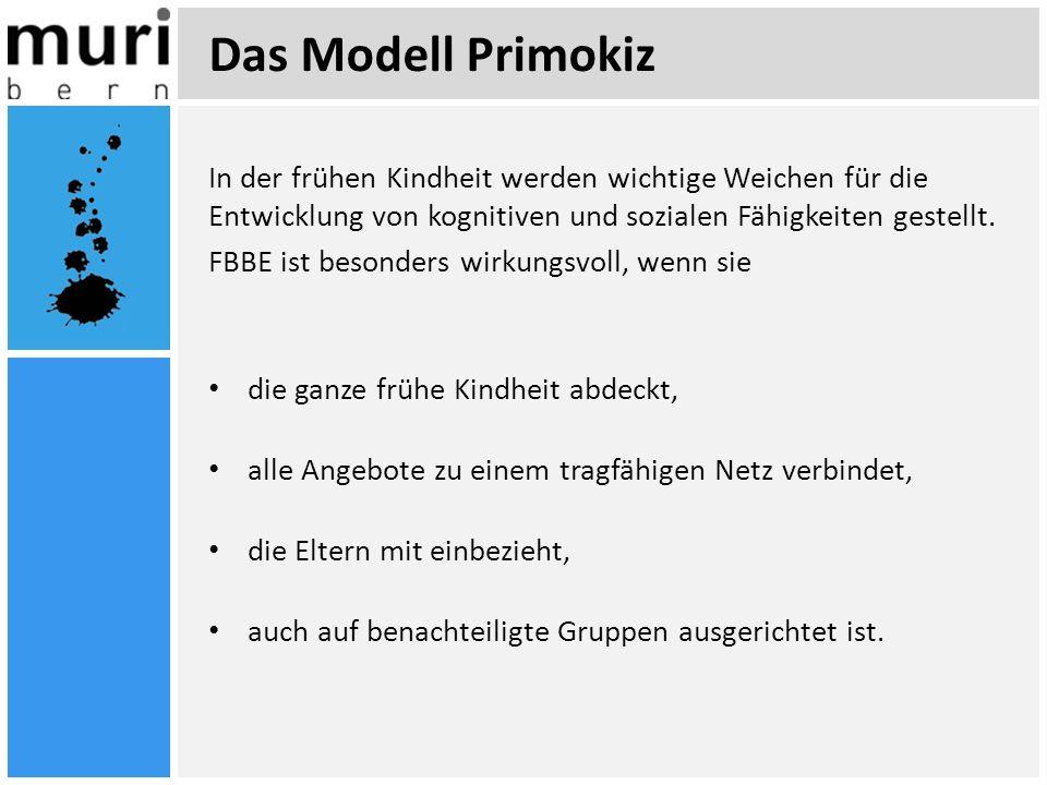 Das Modell Primokiz In der frühen Kindheit werden wichtige Weichen für die Entwicklung von kognitiven und sozialen Fähigkeiten gestellt.