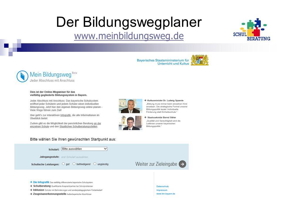 Der Bildungswegplaner www.meinbildungsweg.de