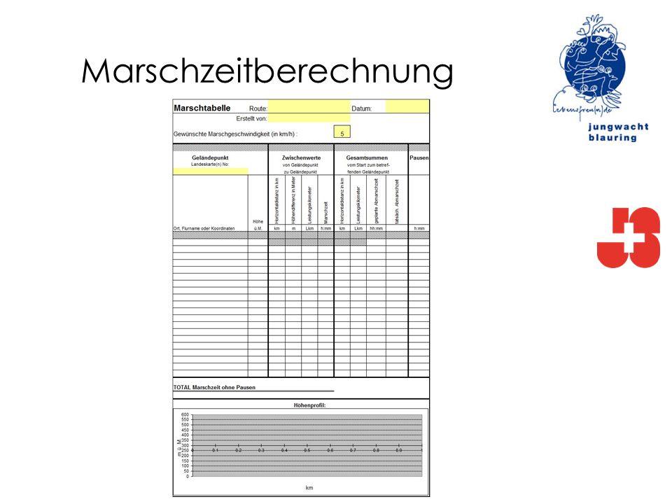 Marschzeitberechnung