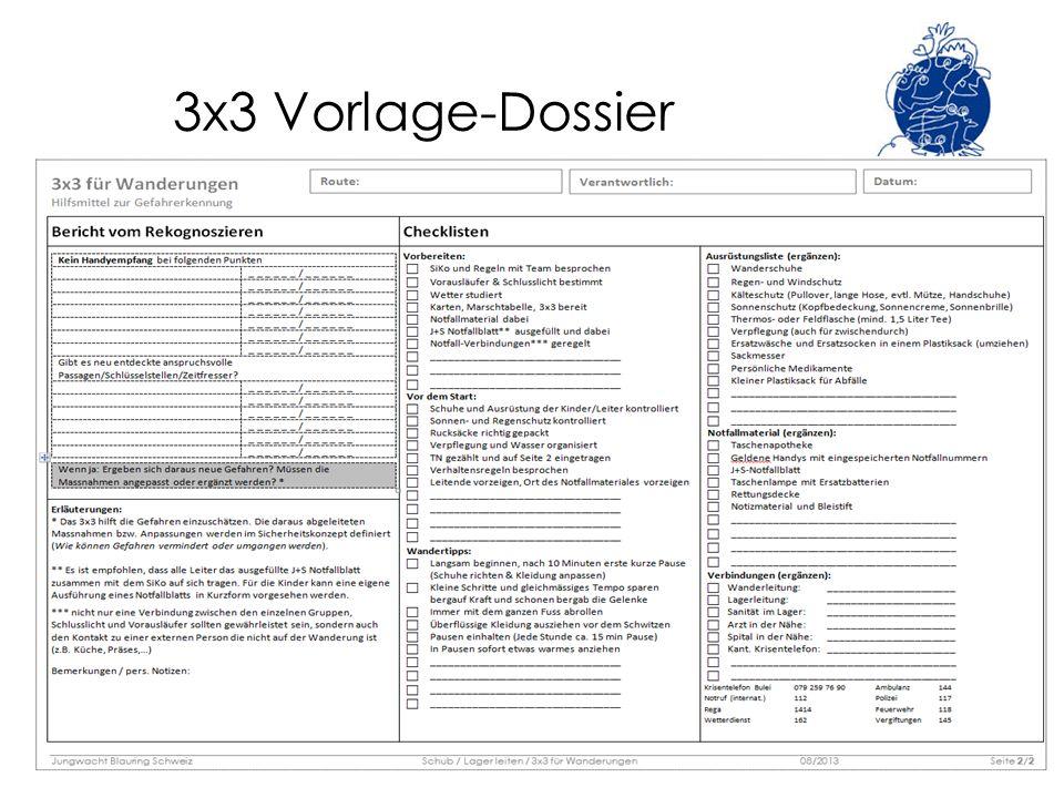 3x3 Vorlage-Dossier