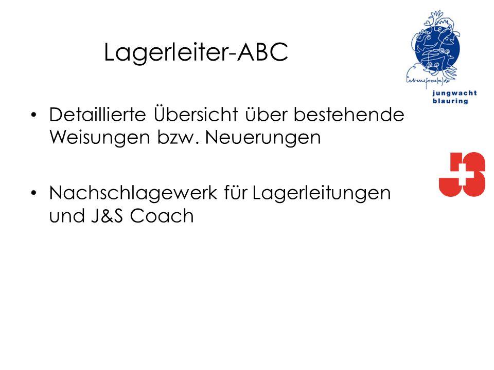 Lagerleiter-ABC Detaillierte Übersicht über bestehende Weisungen bzw.
