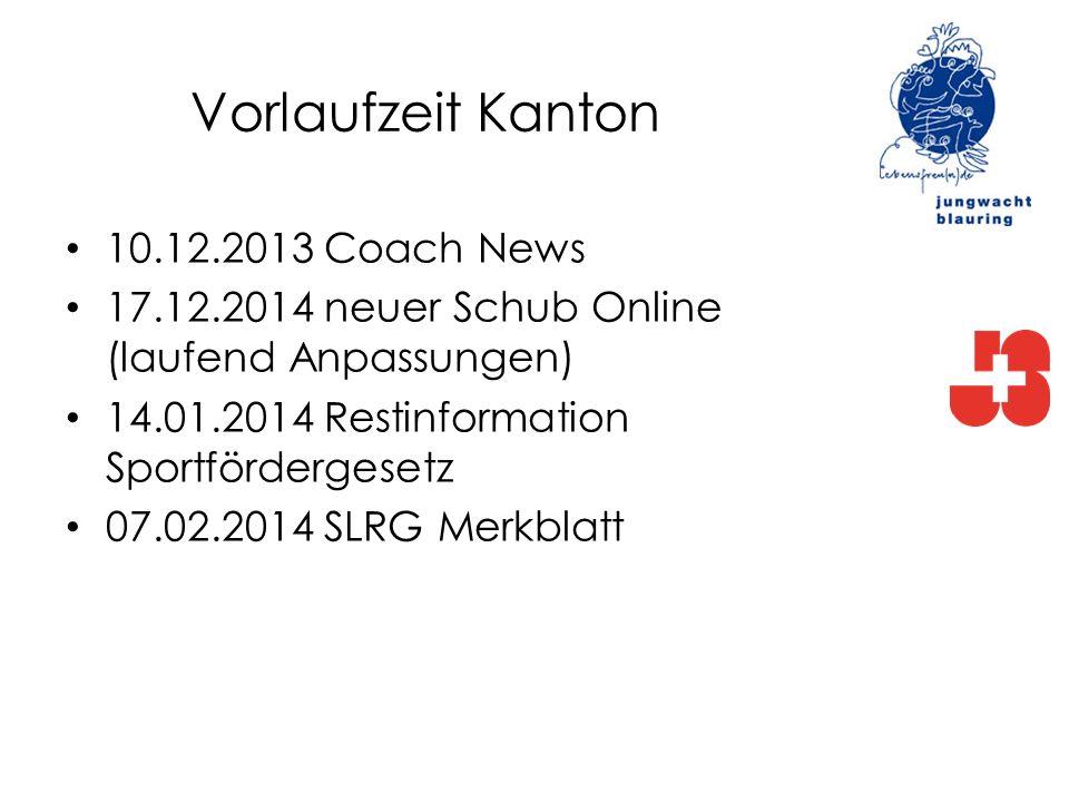 Vorlaufzeit Kanton 10.12.2013 Coach News
