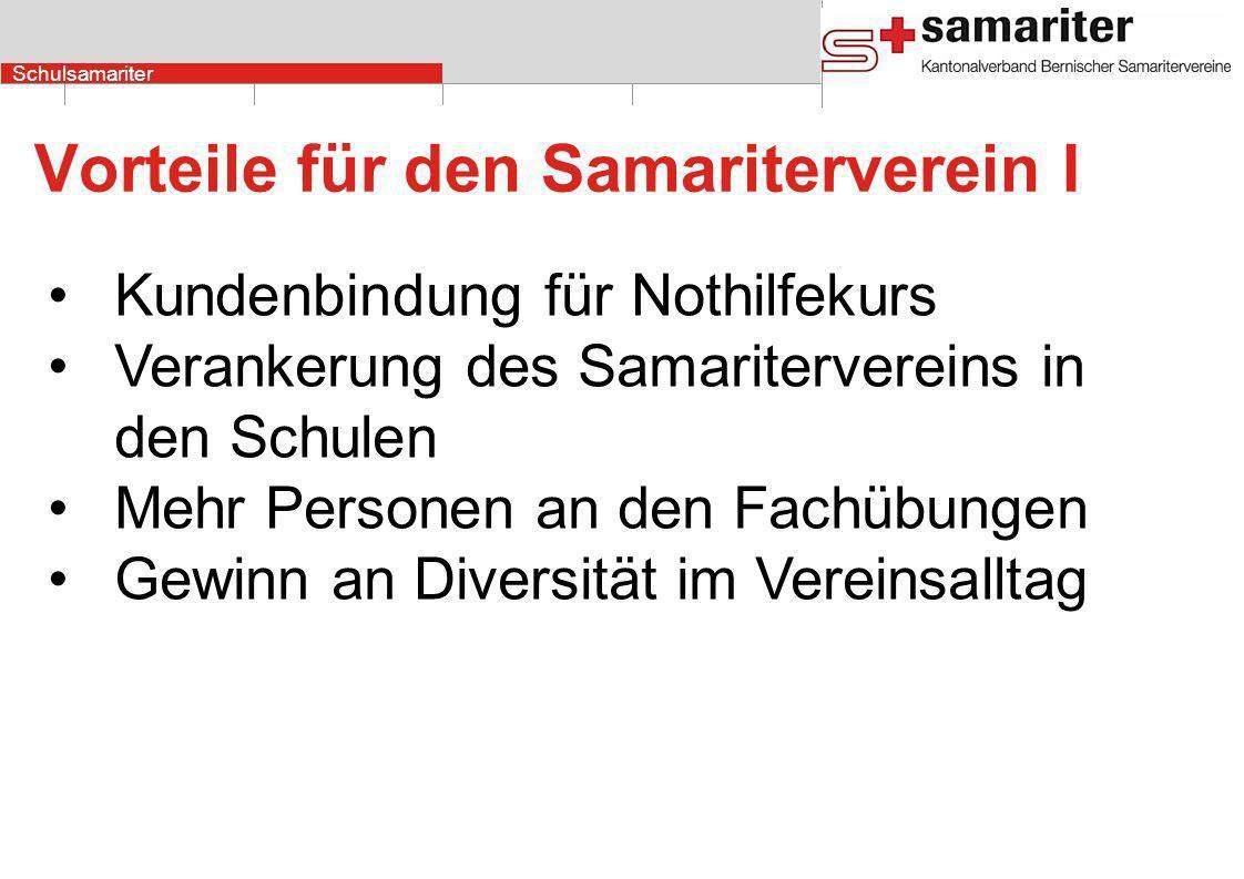 Vorteile für den Samariterverein I