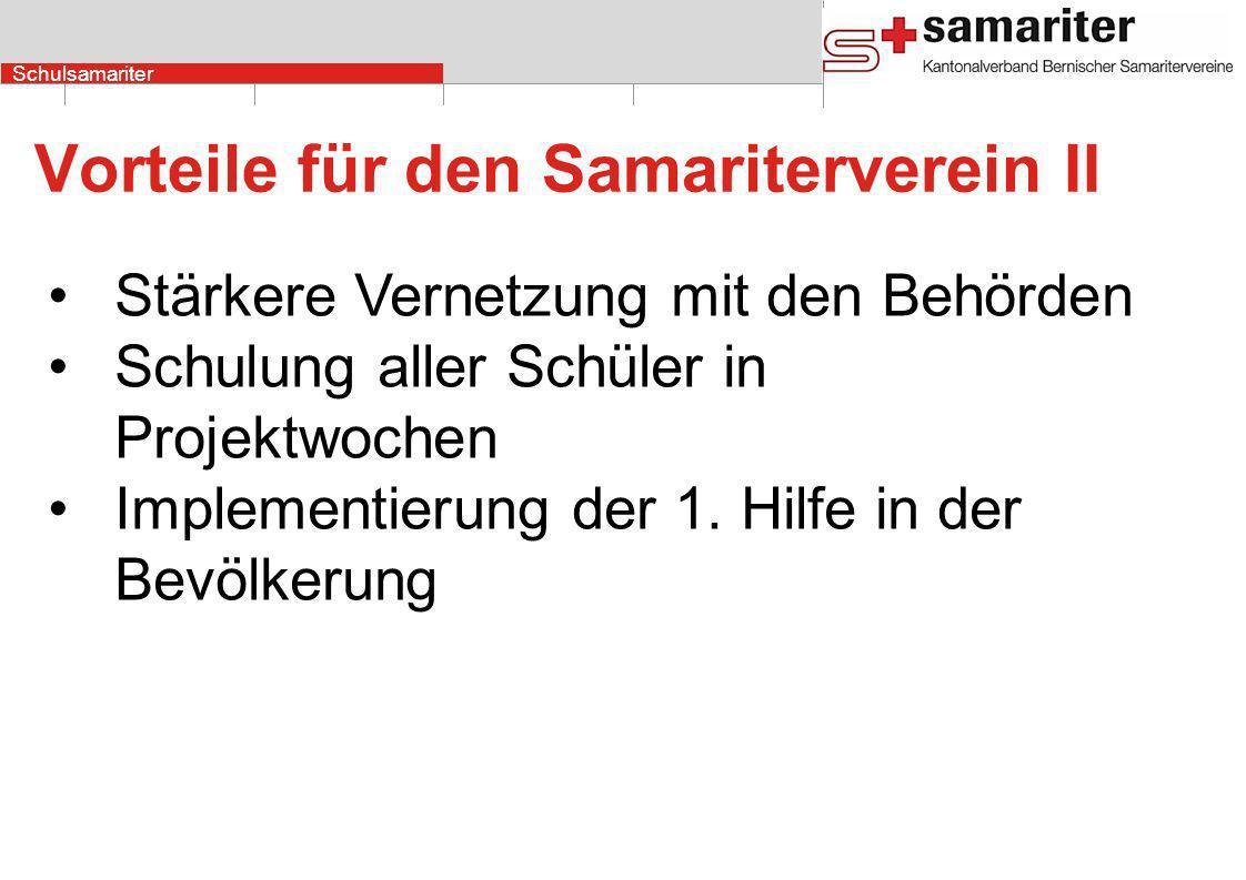 Vorteile für den Samariterverein II