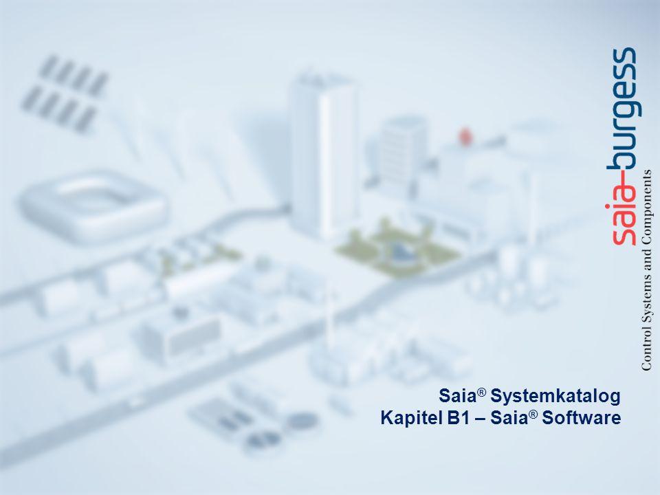 Saia® Systemkatalog Kapitel B1 – Saia® Software