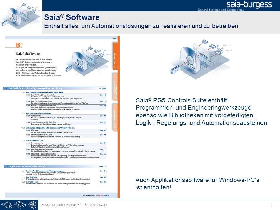 Saia® Software Enthält alles, um Automationslösungen zu realisieren und zu betreiben