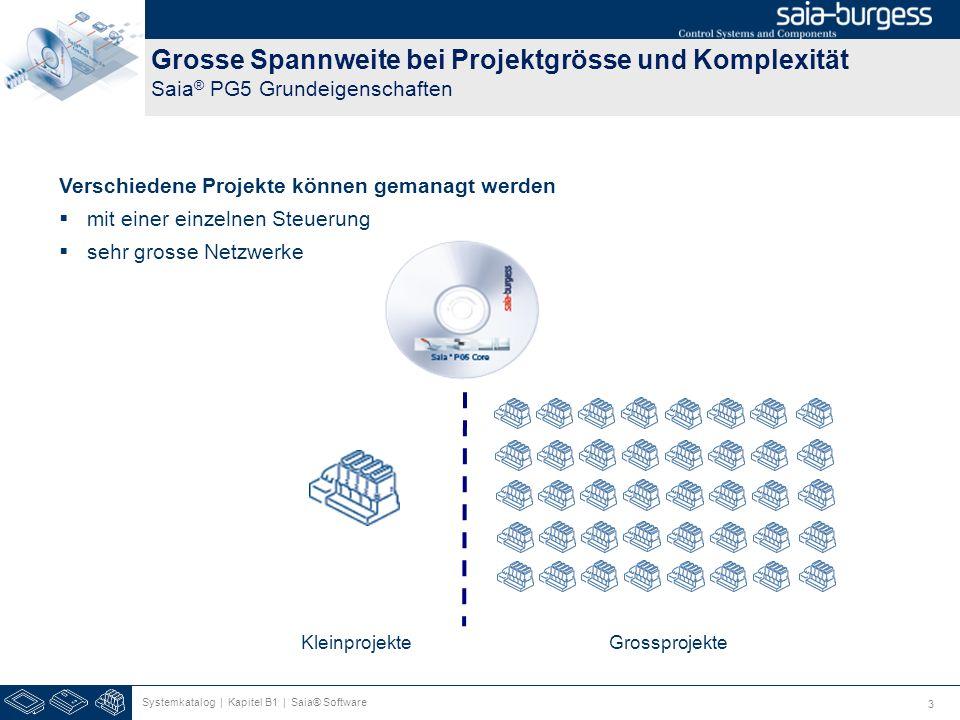 Grosse Spannweite bei Projektgrösse und Komplexität Saia® PG5 Grundeigenschaften