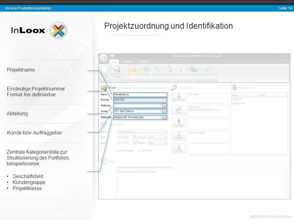 Projektzuordnung und Identifikation