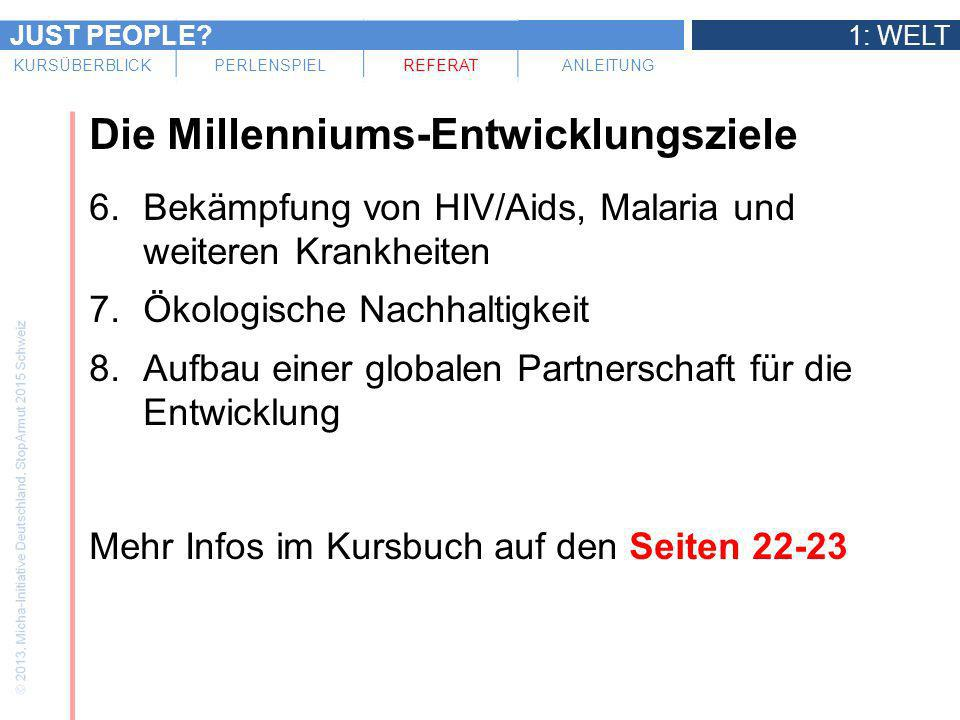 Die Millenniums-Entwicklungsziele